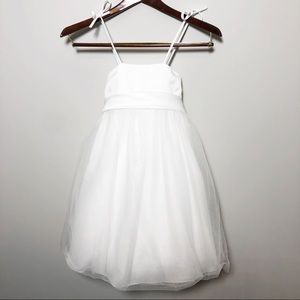 DAVIDS BRIDAL Flower Girl Dress Tulle Bow 2T